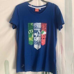 Women's Puma Italia Soccer FIGC T-Shirt